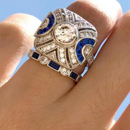 кольцо из желтого золота 14к Скидка дизайнер ювелирных изделий топаз кластера кольца натуральный синий топаз кольца наборы обручальные кольца для женщин горячей моды