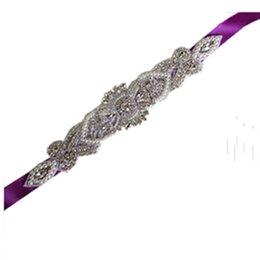 Fiore Vintage Crystal Wedding Belt Elegante strass Partito Sposa Damigella d'onore Dress Sash Accessori da sposa all'ingrosso supplier vintage wedding dress sashes belts da il vestito da cerimonia nuziale dell'annata copre le cinghie fornitori