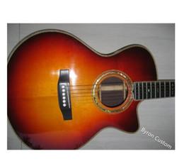 voando guitarra branca Desconto libertar o transporte todos os materiais sólidos artesanal costume da guitarra Todos sólido guitarra Projeto Vintage Fingerstyle Acústico elec acústica profissional