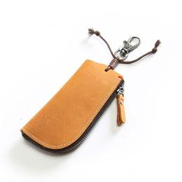 Vintage Leather Zipper Key Case Australia