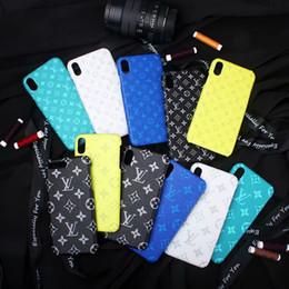 starbucks para iphone Rebajas Caja del teléfono de lujo para 10 9 8 del cuero del patrón de impresión caso del diseñador del teléfono Samsung S8 S9 S10 5G Nota para el iPhone Pro X 11 X Max 8Plus 7 6 Cubierta