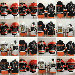 cafef70ca 2017 Stadium Philadelphia Flyers Hoodies Jerseys 53 Shayne Gostisbehere 9 Ivan  Provorov 17 Wayne Simmonds 28 Claude Giroux Konecny discount black flyers  ...