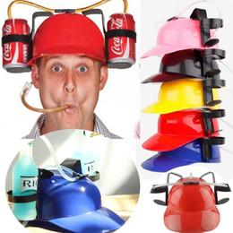 2019 cappello da bere da casco Cappello di paglia Cappello da bere Birra Soda Doppio cappello da bere in paglia Forniture per feste di Natale Portabevande Cappelli per feste sconti cappello da bere da casco