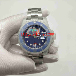 mens luxury dive watches Promo Codes - Super N Factory Watch 116619LB V7 2813 Automatic Movement Ceramic Bezel Sapphire Glass 40MM Blue dial 116610 116619 Diving Mens Watches
