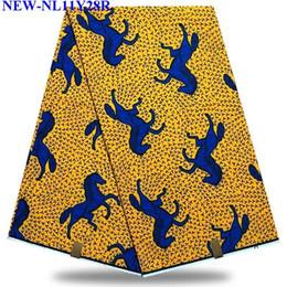 vestiti nigeriani Sconti Tessuto Africano con Stampa a Cera Tessuto Reale Nigeriano Hollandais 6 Yards Per Abbigliamento Ankara XY1912623