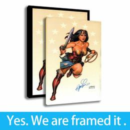 2019 famosi dipinti donne Canvas HD Print Wonder Woman Arte Decorativa Personaggi famosi Dipinti Framed Art - Pronta per essere appesa - Personalizzazione del supporto sconti famosi dipinti donne