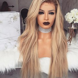 dark roots wig Promo Codes - Top Quality Glueless 2 Tones Dark Roots Ombre Brown Natural Wave Hair 180% Density Heat Resistant Synthetic Lace Front Wigs for Black Women