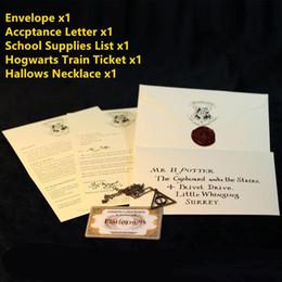 Canada Harry Potters Poudlard Lettre D'acceptation Paquet Cinq Pièces Costume Accessoires de Cosplay Pour Adultes Et Enfants Cadeau D'anniversaire Offre