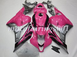 pink honda motorcycles Promo Codes - Injection Mold New style ABS Motorcycle Fairings Kits Fit for HONDA CBR600RR F5 2009 2010 2011 2012 cbr600 600rr Pink black silver