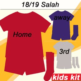 camiseta de fútbol de niños xl Rebajas 2018 19 M.SALAH Kids Kit Soccer Jersey FIRMINO LALLANA Home Away 3rd Child Camisetas de fútbol MATIP MANE STURRIDGE Boy Girl Short
