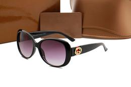 [Con la caja] GUCCI Gafas de sol de moda Gafas de sol Vintage para hombre Marco dorado Gafas de sol Mujeres de calidad superior SGB75 desde fabricantes