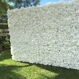 blumenwand hintergrund Rabatt 10 teile / los 60X40 CM Romantische Künstliche Rose Hortensie Blume Wand für Hochzeit Bühne und Hintergrund Dekoration Viele farben