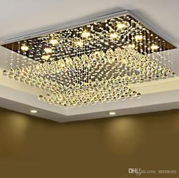 iluminação legal para sala de crianças Desconto Controle remoto retangular LED lâmpada de cristal lâmpada do teto da lâmpada do teto é adequado para cozinha do foyer do restaurante interior.