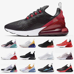 rose markenschuhe Rabatt nike air max 270 airmax Laufende Bred 27c Herren Schuhe Hot Kissen Trainer Regency Lila Barey Rose Triple Black Weiß Have A Nice Day Mode Turnschuhe Marke
