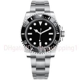 relógio mecânico Desconto Relógios de luxo Cerâmica Bezel completo de Aço Inoxidável Mecânica Automática Movimentos Sapphire 5ATM Mens Relógios À Prova D 'Água 116610 orologio di lusso