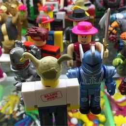 lego borse Sconti Roblox originale DIY Block Toys 7CM Roblox Minifig mattoni da costruzione Giocattoli all'ingrosso Opp Bag Packaging In magazzino