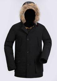 hombres s por parka ártica Rebajas 2018 La última moda Woolrich Brand Men Arctic Anorak Abajo chaquetas Hombre Winter goose down jacket 90% Outdoor Thick Parka Coat abrigos calientes