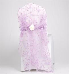 Ribbon yarn on-line-Fio de Bordado Tambor de Volta Nó Adicional de Perfuração Bowknot Cadeira Sashes Fios Força Flores Brancas Artificiais Tampas de Assento Da Fita 16 wqb1