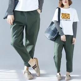 Verde vestito generale online-2019 Abito Easy Will Code Pantaloni Donna Fat Mm Verde militare Nove tuta Pantaloni di Haren
