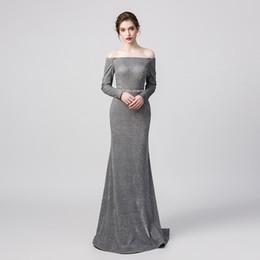 2d1e35e96e357 off shoulder maternity maxi dress Promo Codes - 100% Real Pictures Grey  Sexy Elegant Mermaid