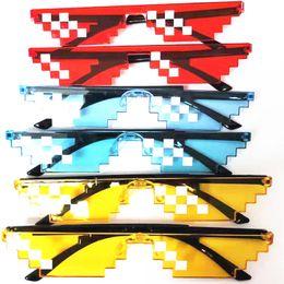 2019 очки Дизайнер New Amuse Солнцезащитные Очки Pixel Code Thug Life Солнцезащитные Очки Квадратичный Элемент Прохладный Смешные мужчины женщины очки очки Модные очки дешево очки