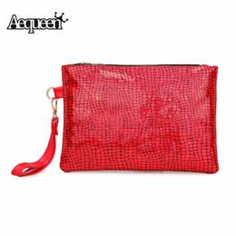 Красная блестящая сумочка онлайн-AEQUEEN женская блестящая блестка клатч женщина ну вечеринку ужин вечерние сумки лазерный камень сумочка красный серебряный блеск сумка конверт # 140169