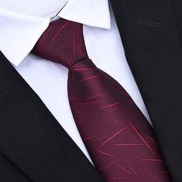 2019 vestito da cerimonia nuziale Zipper Ties 8cm Classic Business Men formale da sposa Tie 8cm a righe cravatta moda Camicia Dress Accessori vestito da cerimonia nuziale economici