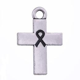 244e0b67fef cancer ribbon jewelry UK - Myshape Wholesale,10pcs Antique Silver Plated Cancer  Awareness Ribbon Jesus