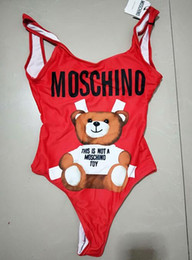 30d13184406 MOSC Small Bear Designer fashion Swimwear Bikini For Women Letter Swimsuit  Bandage Bi quinis Sexy Bathing Suit