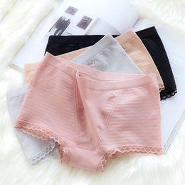 27f32b7b6b768 vêtements pour femmes Nouveaux vêtements pour femmes modal sans couture taille  haute ventre hanche boxer culotte ruche femme haute élastique sexy dentelle  ...