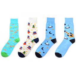 Creative Novelty Funny Crazy Animal Food Crew Socks Mens Colorful Fun Cool Space Astronaut Dinosaur Einstein Corgi Dress Socks For Men Men's Socks