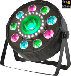 2019 luz verde mini pc 4 pçs / lote LED DMX DJ equipamento carLED par 90 w RGBW discoteca iluminação treliça