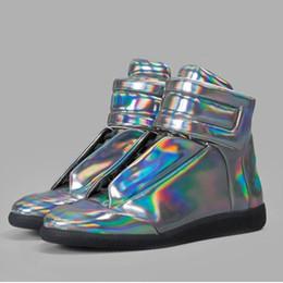 maison margiela Desconto Sapatos de grife Maison Martin Margiela High Top Sapatilha Homem Sapatos Homens \ 's Walking Flats Sapatos MMM Formadores Kanye Ocasional tamanho 40-46