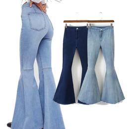 medias de gran tamaño de las mujeres Rebajas 2019 ZARANSE explosión elástico de las mujeres Big Horn caderas apretado atractivo y hermoso diseñador de las mujeres de los pantalones vaqueros pantalones vaqueros de las señoras de lujo del tamaño S-L