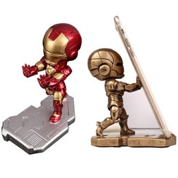 telefono flessibile a mano Sconti Mobile Phone Iron Avenger Man Staffa Stand Cartoon Marvel Office Desktop Holder Doll Accessori da scrivania per iPhone Xiaomi Samsung
