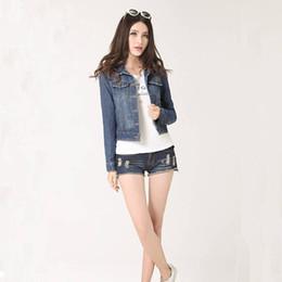 750310f0d2e Plus Size Women Jeans Jackets 2017 Cropped Vintage Denim Jacket Short Long- Sleeve Cardigan Coat Jacket Autumn Winter