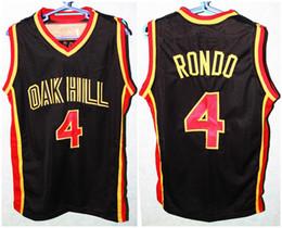 Форма рондо rajon онлайн-Rajon Rondo #4 Oak Hill High School Ретро Баскетбол Джерси Мужские Сшитые Пользовательские Номер Имя Трикотажные Изделия