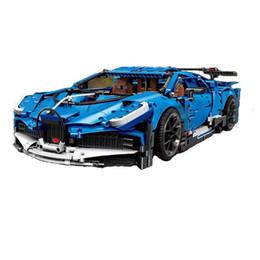 Juguetes de coches azules online-Technic 13125 MOC Bagutis Azul RC Racing Car 3858pcs Building Blocks para niños compatibles 42083 20086 regalos de Navidad para los niños juegan ladrillos