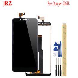Accessoires doogee en Ligne-JRZ pour écran LCD et écran tactile Digitizer Doogee X60L, remplacement avec outils pour accessoires mobiles Doogee X60L