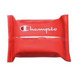 Supporto per carta auto online-lettera di stampa portatovagliolo scatola del tessuto della copertura della copertura per auto pu portatovaglioli sacchetto di carta sacchetto del supporto della cassa del sacchetto ljjk1761