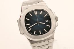 Уплотнения смотреть онлайн-Роскошные часы Марка 40мм циферблат 18K Золотой Женева печать из нержавеющей стали механизм с автоподзаводом 5711 сапфировое зеркало