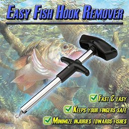 Инструмент для снятия рыболовных крючков онлайн-Горячие Продажи Easy Fish Hook Remover Портативный Рыбалка Инструмент Минимизация Травм Инструменты Снасти Выжималка Из Нержавеющей Стали Рыболовные Крючки M9Y