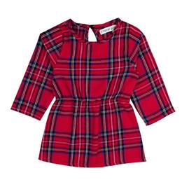 Vestido xadrez bebê vermelho on-line-Crianças do bebê meninas vestido literária xadrez criança menina típica xadrez vermelha camisa de manga comprida primavera outono dress 48