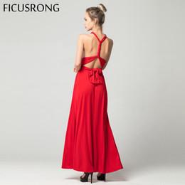 201b57eba0d Sexy Long Dress Bridesmaid Formal Multi Way Wrap Convertible Infinity Maxi  Dress Red Hollow Out Party Bandage Vestidos FICUSRONG