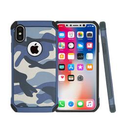 camouflage iphone skin Promotion Pour iPhone X XR XS Coque Amy Camo Phone Pour iPhone 8 7 5 6 plus téléphone peau Retour couvre Ville Dessert Jungle Camouflage 3 Couleurs SCA065
