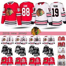 billige authentische nhl hockey trikots Rabatt Chicago Blackhawks 88 Patrick Kane 19 Jonathan Toews 20 Brandon Saad 2 Duncan Keith Hockey Trikots