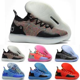 Easter kd sapatos on-line-Mulheres baratos KD 11 tênis de basquete para venda Oreo Preto Azul Páscoa Amarelo Vermelho Meninos Meninas Juventude Crianças Kevin Durant XI tênis tênis para venda