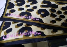Estampa de leopardo Cachecol 47.2 Em Ultra Comprimento 100% de Seda Lidar Com Cachecol Fita Pequena Cabelo Mulher Headband Bag de