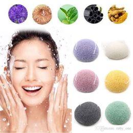 Esponja esfoliante facial on-line-Natural Konjac Konnyaku Fibra Rosto Lavar Cleanse Esponja Puff Esfoliante Ferramentas Facial Puff Ferramentas de Limpeza RRA791