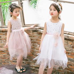 Sleeveless Dress For Girl Summer 2019 Casual Solid Knee-length Green  Regular Children Clothes Cotton Kids Girls Dresses Ds735 a682faff67c5
